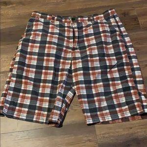 Men's True Rock Plaid Shorts 36